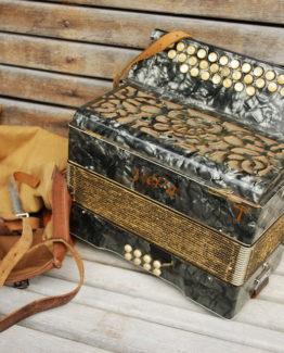 Instrument Handorgel antik