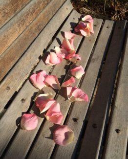 Rosenblätter Stoff Deko