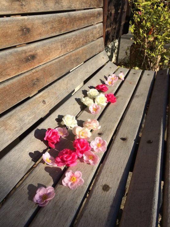 Stoffblumen Deko leihen