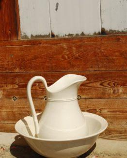Porzellangeschirr Waschschüssel weiss uni